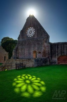 Ancient Celts, Sunlit Reflection - Mdryburgh Abbey - Scottish Border - Scotland